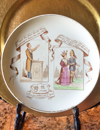 October French Plate