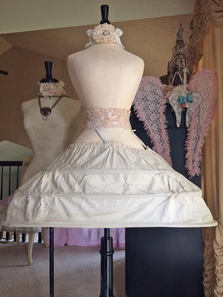 Vintage Pannier Oval Hoop Skirt