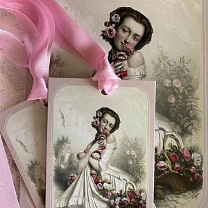 Panier de Roses Gift Card Set