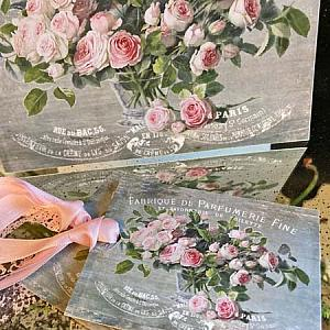 Parfumerie Roses French Themed Mothers Day Gift Card Set