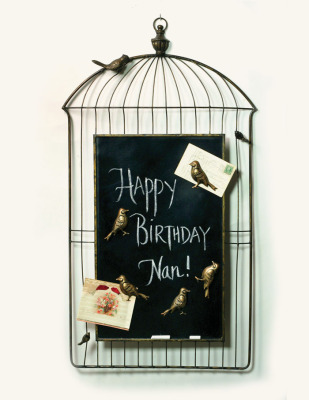 French Bird Cage Chalkboard