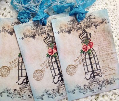 Paris Dress Form Gift Tags