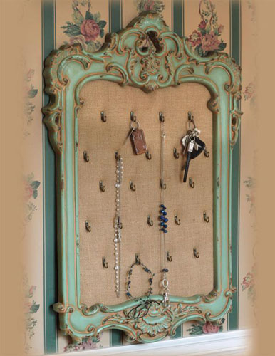 Antique Sage Frame Display