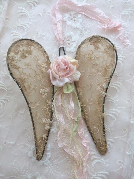 Pale Pink Rose Wings