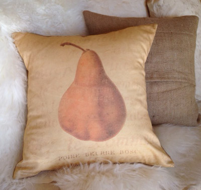 French Pear Pillow Slip