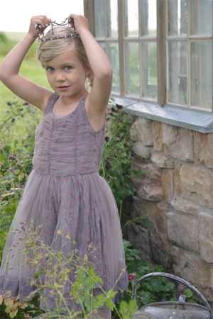Pink Roses Flower Girl Dress