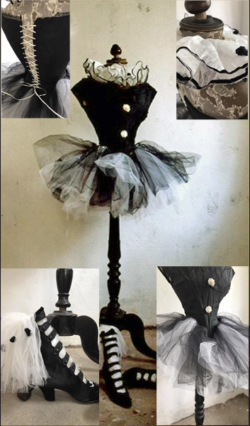 Antique French Pierrot Costume