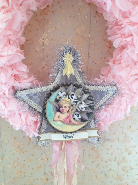 French Pink Cherub Wreath