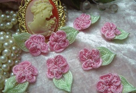Sweet Pink Floral Applique