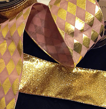 Pink Harlequin French Ribbon