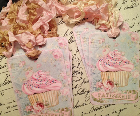 Pink Patisserie Tags