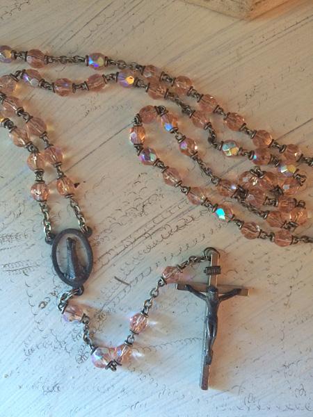 Vintage Pink Rosary