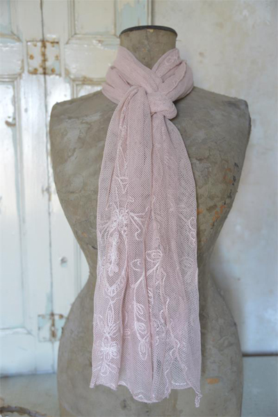 Pink Blush Lace Scarf