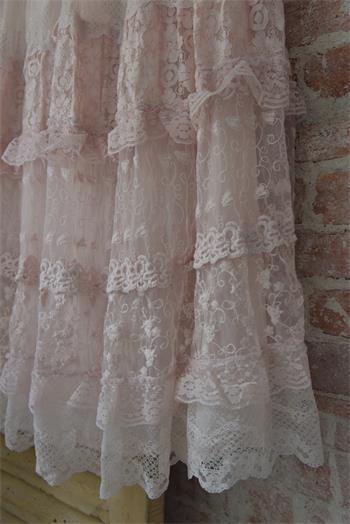 Boho Pink Lace Skirt