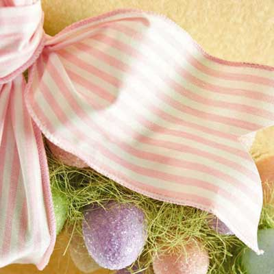 Pink and White Stripe Ribbon