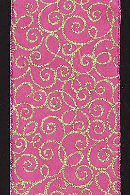 Pink Swirl Ribbon