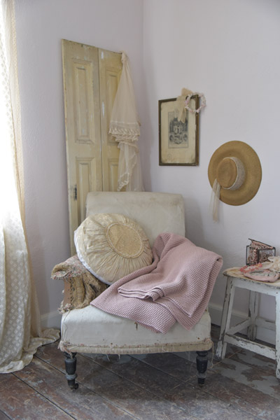 Jeanne d Arc Living Dusty Pink Knitted Throw