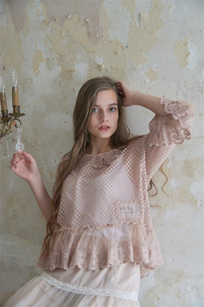 Romantic Dusty Rose Blouse