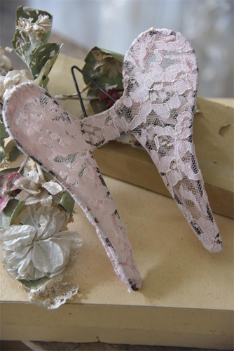 Shabby Pink Lace Wings