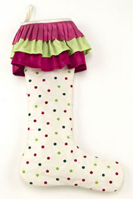 Retro Polka Dot Stocking