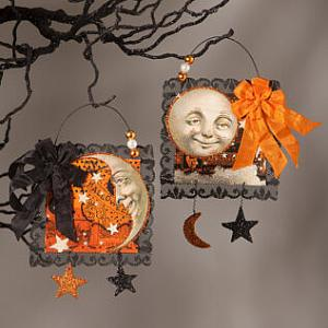 Magic Moonlight Postcard Ornaments Halloween Decor