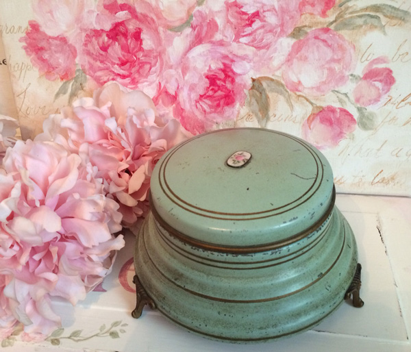 Vintage Powder Jar Music Box