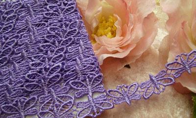 Lavender Butterfly Venise Lace
