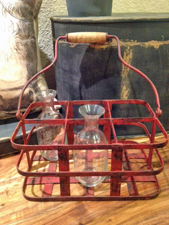 French Vintage Bottle Carrier