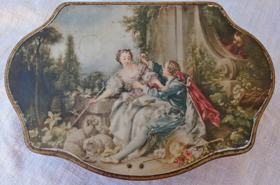 Romantic French Antique Tin