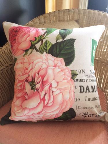 French Script Fleur Pillow Slip