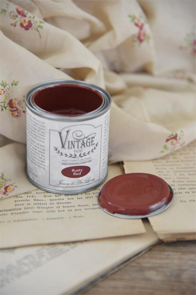 Vintage Paint Rusty Red