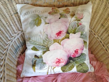 Shabby Pink Roses Pillow Slip
