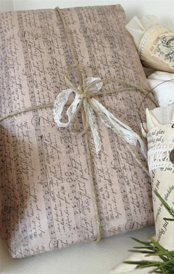 Antique Sheet Music Gift Wrap