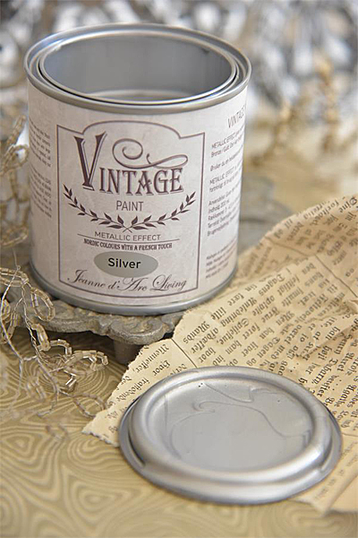 Chalk Paint Metallic Silver Vegan