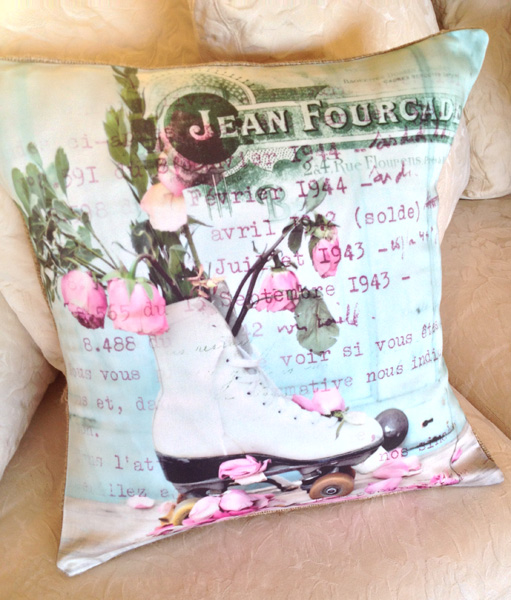 Shabby Roses Pillow Slip