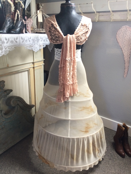 Full Length Vintage Hoop Skirt