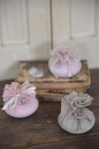 Lovely Fabric Bags With Soap