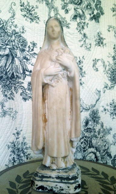 Antique French St.Theresa Statue