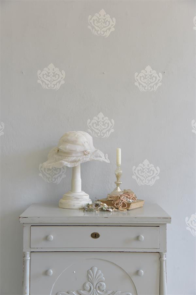 French Baroque Flower Stencil Sponge Set