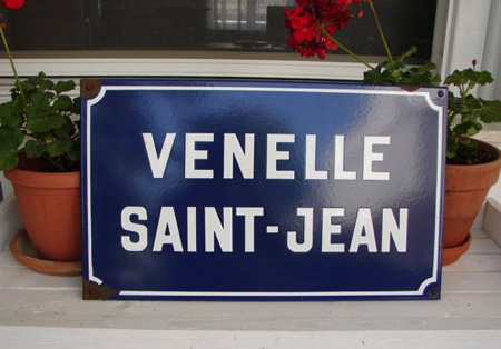 French Enamelware Street Sign