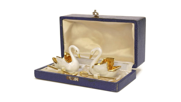 Limoges Porcelain French Vintage Salt Cellars