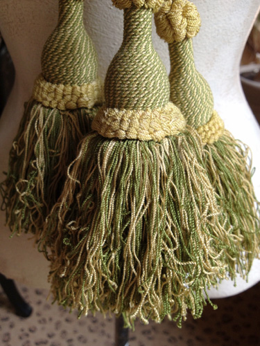 Antique French Tassel Tiebacks