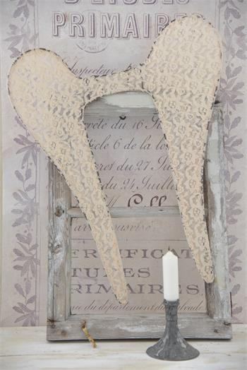 Tea Colored Lace Angel Wings