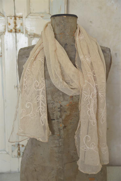 Tea Lace Scarf