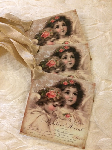 Vintage Angels Gift Tags To And From
