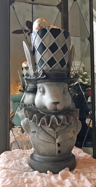 French Spring Decor Top Hat Hare