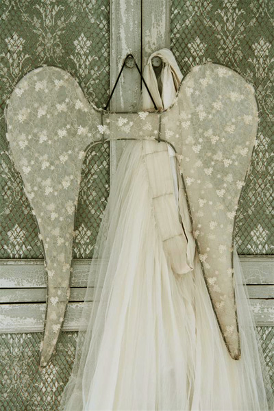 Large Tulle Angel Wings