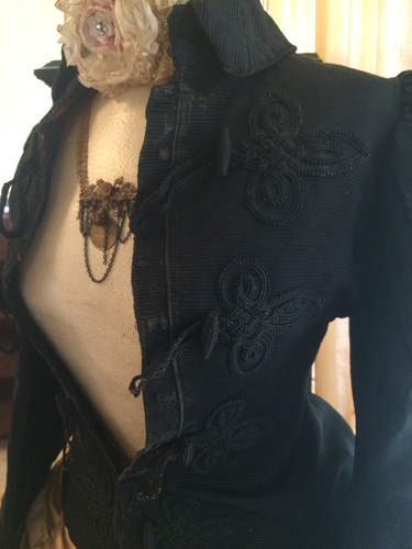 Victorian Antique French Silk Jacket
