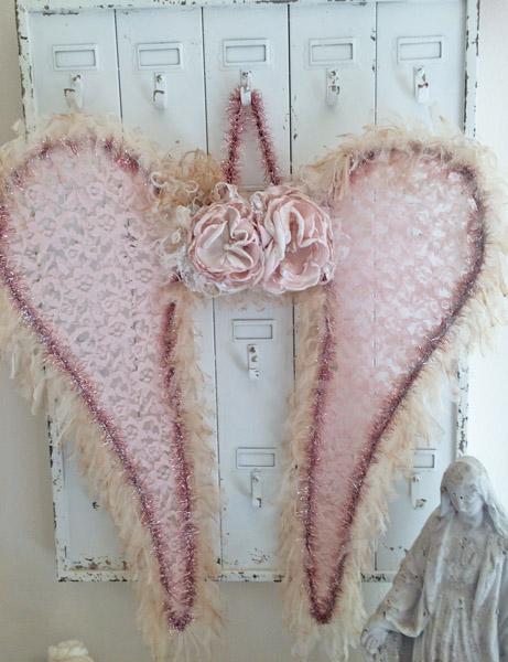 Pink Marshmellow Cream Fairy Angel Wings