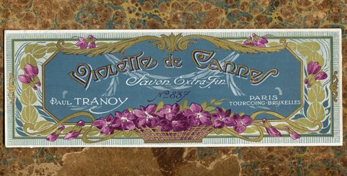 Antique French Perfume Label Violette